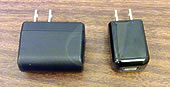 AC Adapter Comparison Old magicJack plus (left) vs 2014 (right)