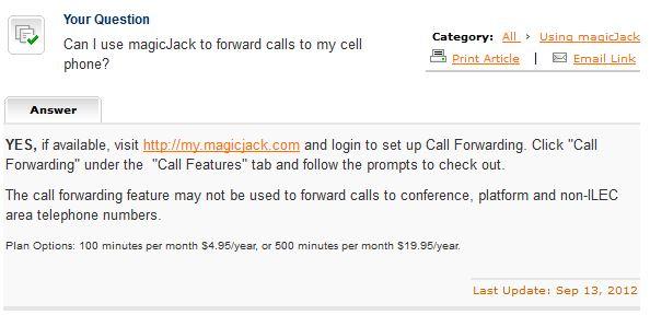 Call Forwarding FAQ