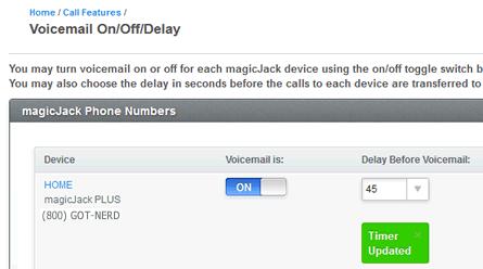 magicjack answering machine