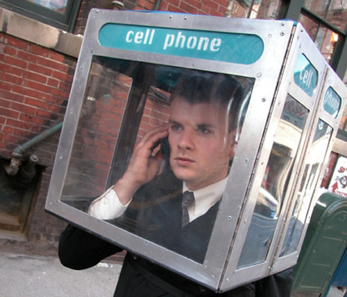 portable cell phone booth
